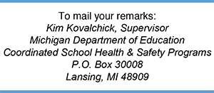 Contact the MI Dept of Education
