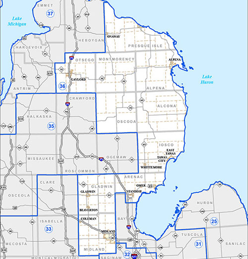 Senate District 36 Map